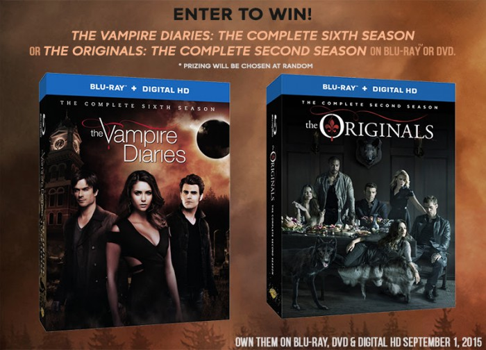 The Vampire Diaries: The Complete Sixth Season & The Originals: The Complete Second Season Giveaway