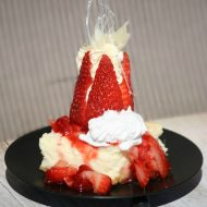 Strawberry Cheesecake with Sugar Art