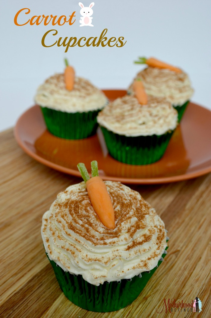Easy Rips Carrot Cupcake for Easter