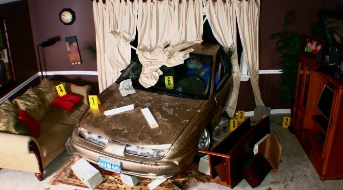 CSI: The Experience A House Collided Crime Scene