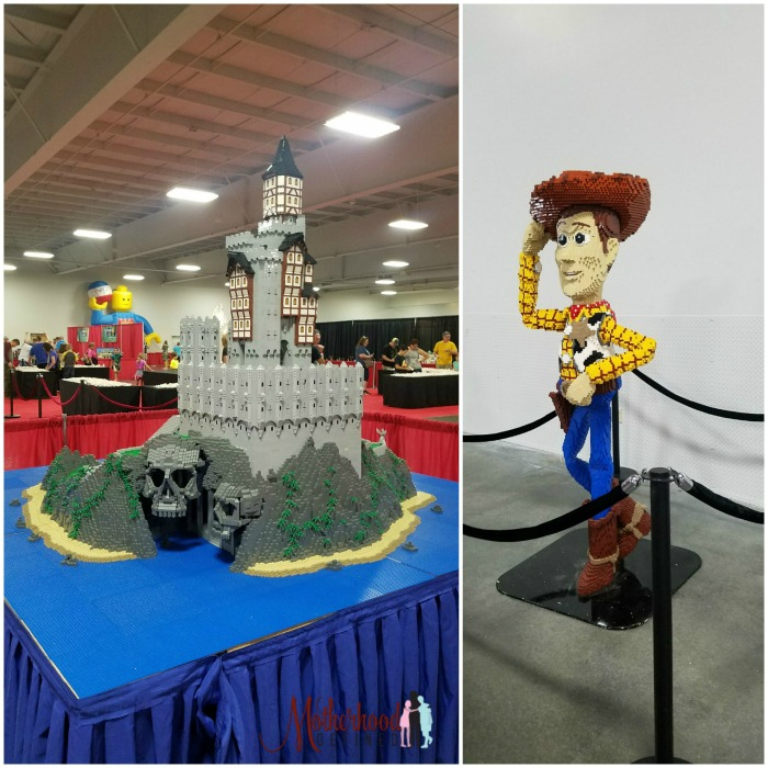 Brick Fest Live Woody and Castle Sculptures