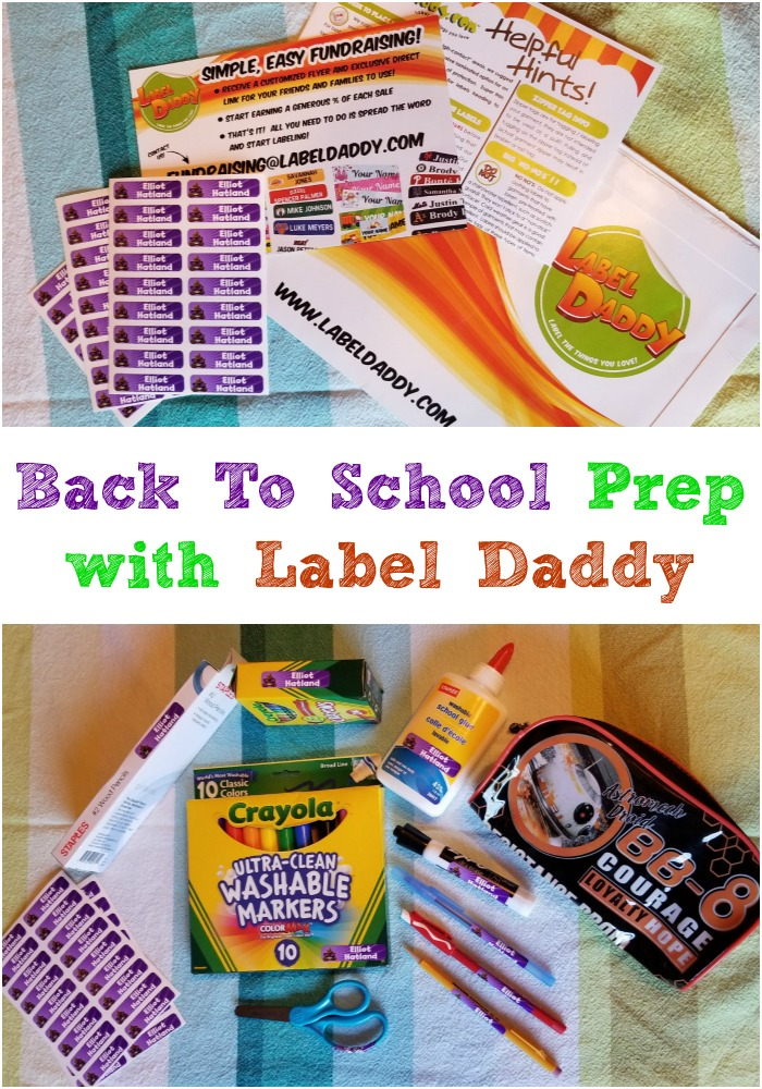 Back To School Prep with Label Daddy