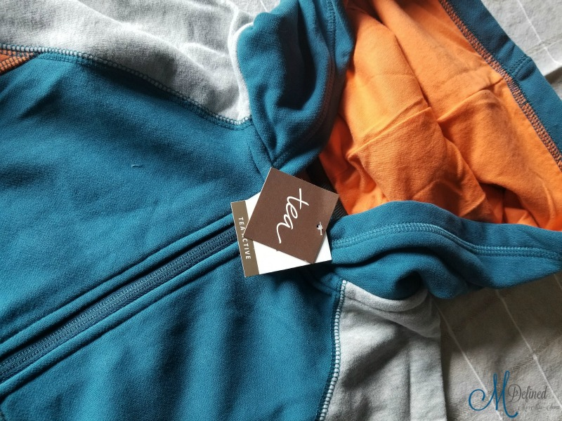 Colorblock Zip Hoodie in Oasis
