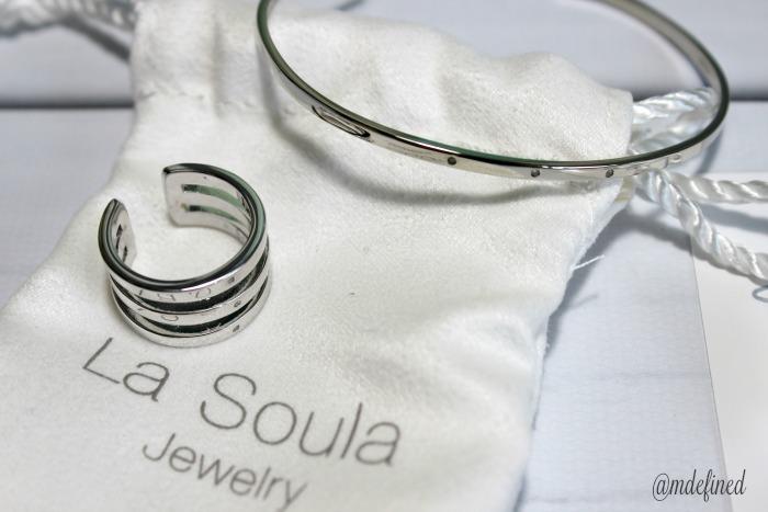 La Soula Modern Triple Diamond Adjustable Ring and Cuff