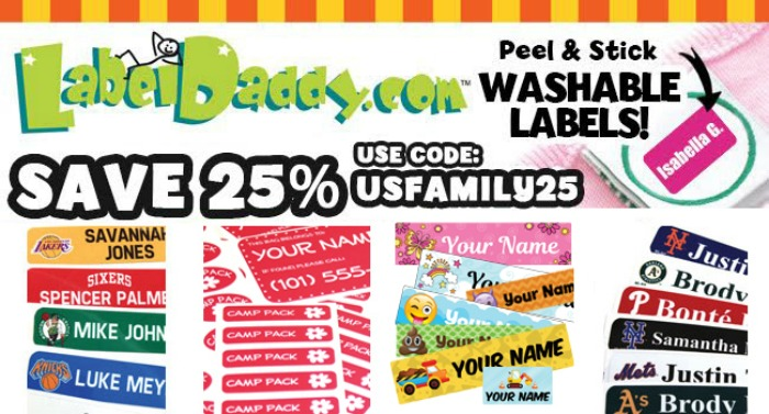 Save 25% on your entire Label Daddy order. Use code USFAMILY25 at checkout