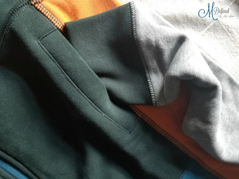 Tea Collection Scotland Colorblock Zip Hoodie