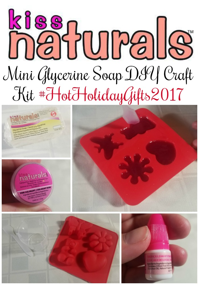 Kiss Naturals Mini Glycerine Soap DIY Craft Kit #HotHolidayGifts2017