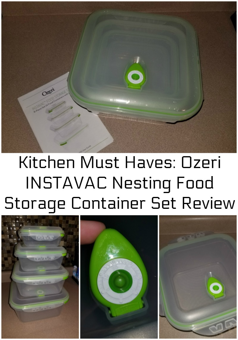 Kitchen Must Haves: Ozeri INSTAVAC Nesting Food Storage Container Set Review
