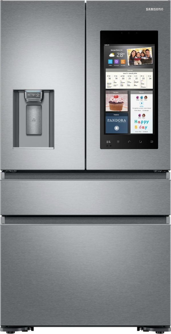Samsung Prep for the Holidays: Samsung Family Hub 2.0 22.2 Cu. Ft. 4-Door French Door Counter-Depth Refrigerator