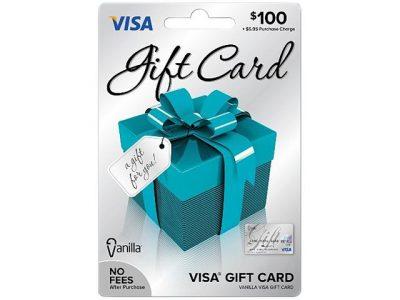 $100 Visa Gift Card or Cash Giveaway