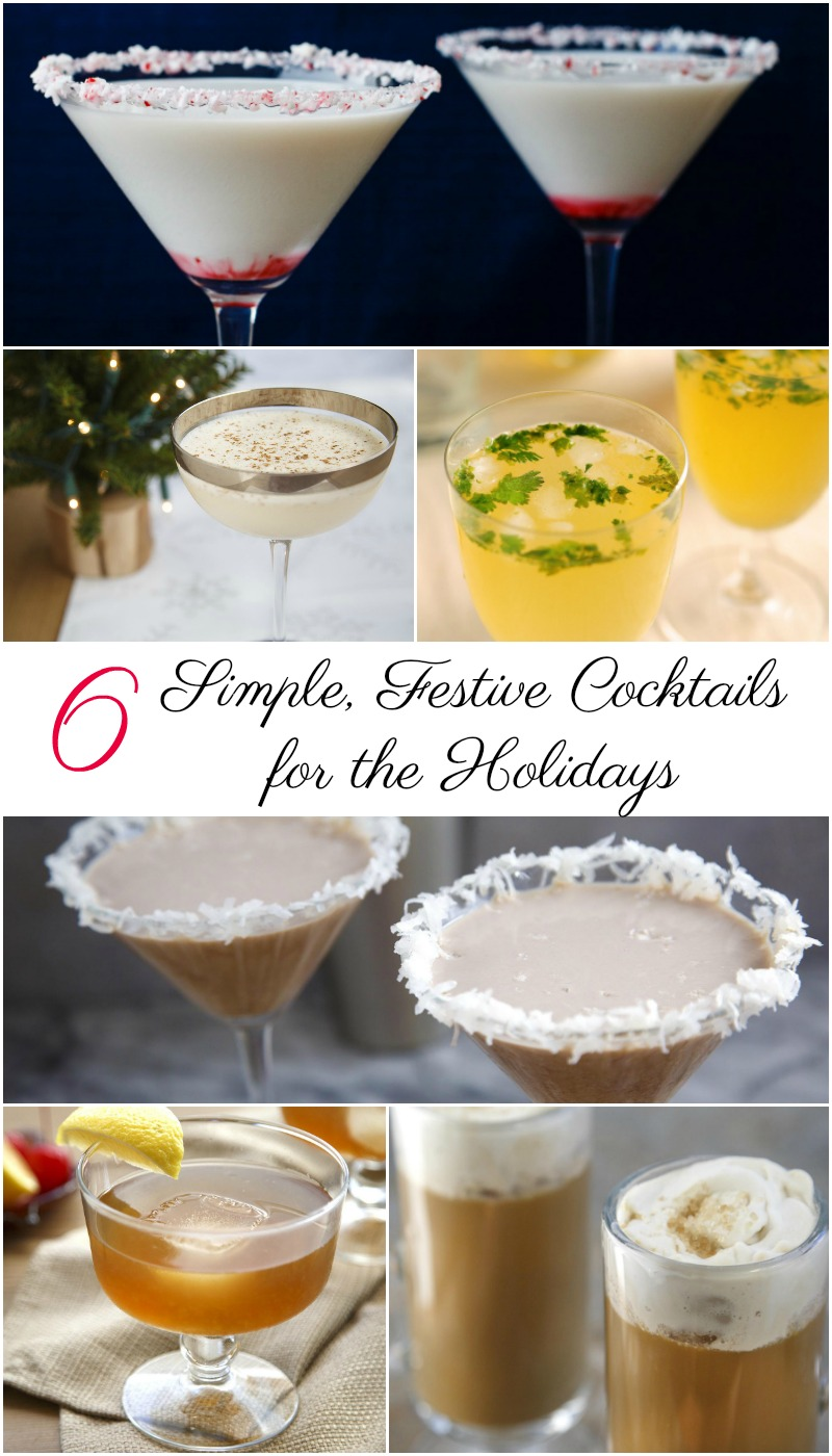 6 simple festive cocktails for the holidays motherhood Simple holiday cocktails