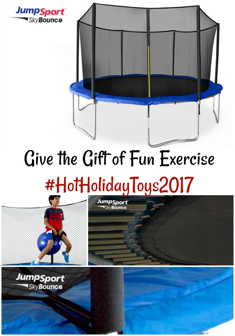 Give the Gift of Fun Exercise with JumpSport Trampolines #HotHolidayGifts2017
