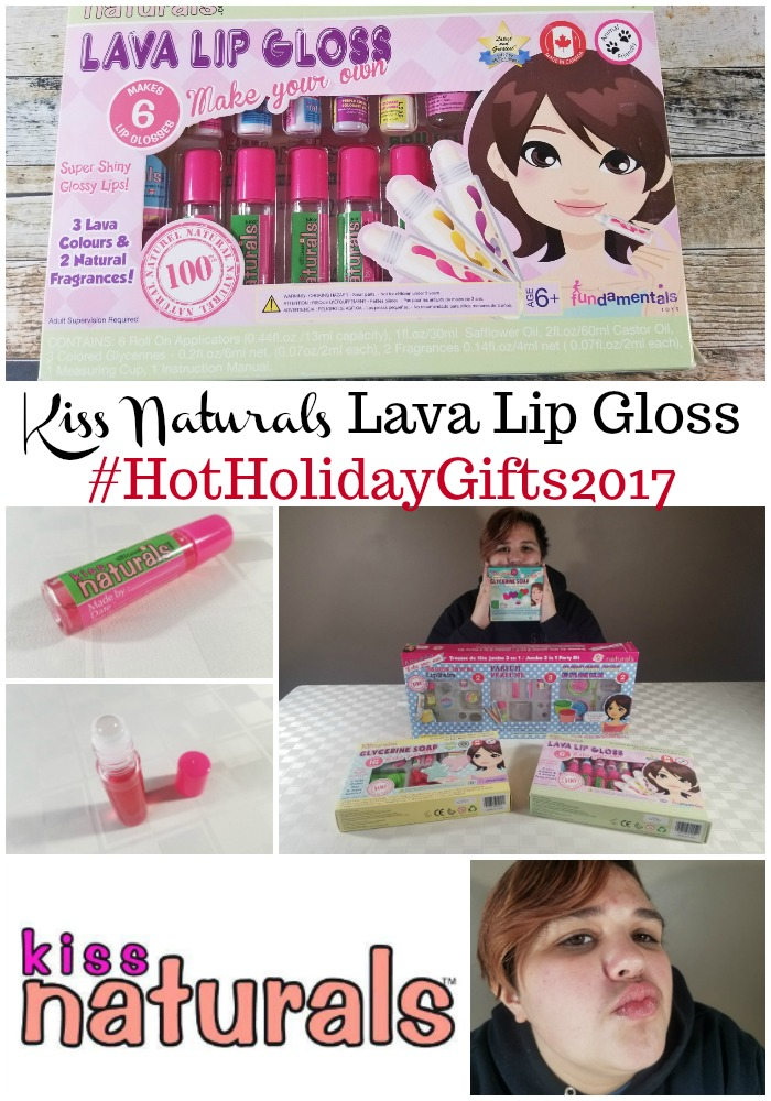 Kiss Naturals Lava Lip Gloss DIY Kit #HotHolidayGifts2017