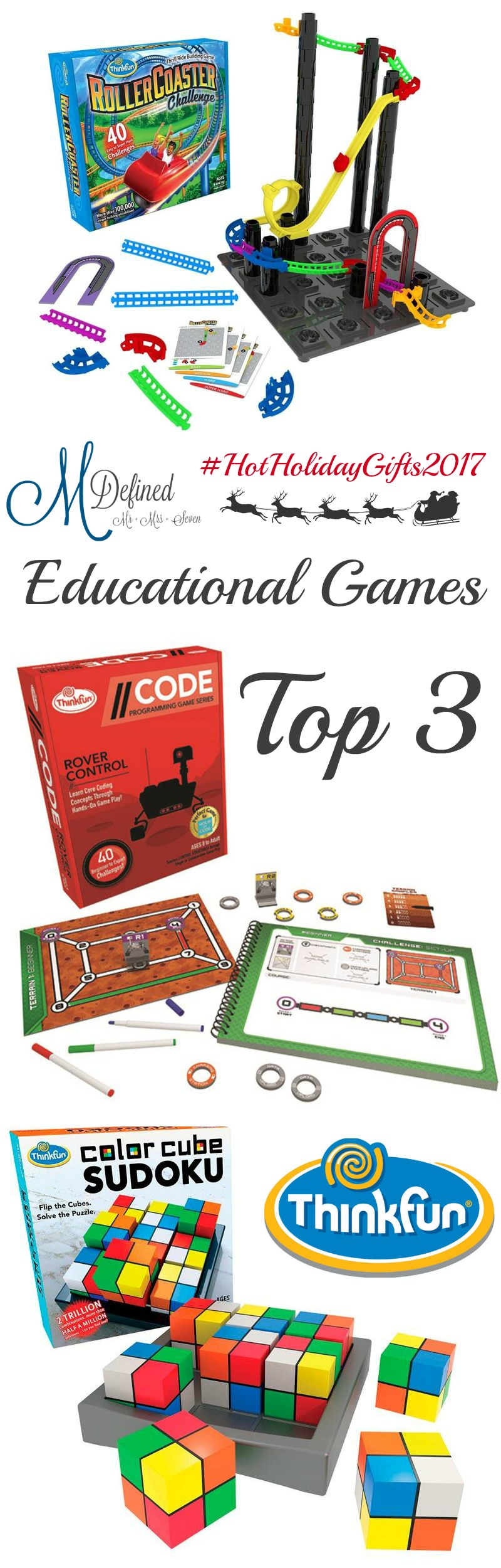 Top 3 Educational Games from ThinkFun Giveaway