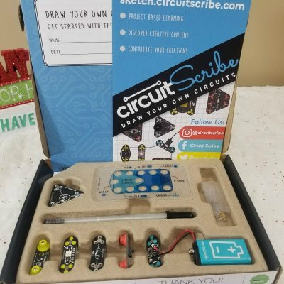 Homeschooling STEM Through Winter Break, Circuit Scribe Style