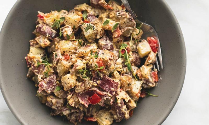 Garlic Herb Potato Hash