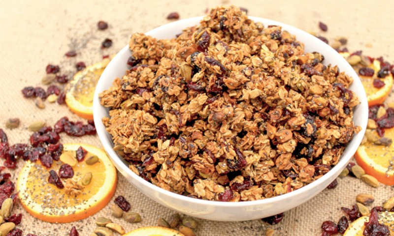 Cranberry Orange Chia Granola Recipe