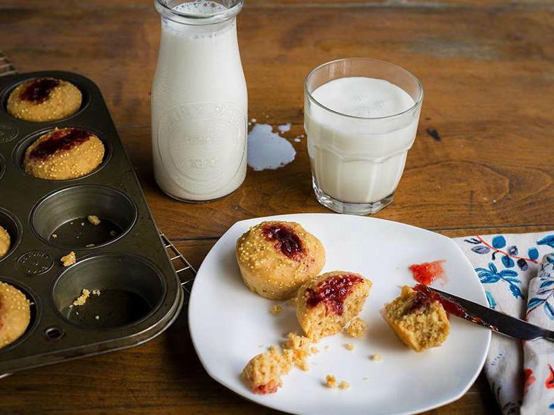 PB&J Protein Power Muffins