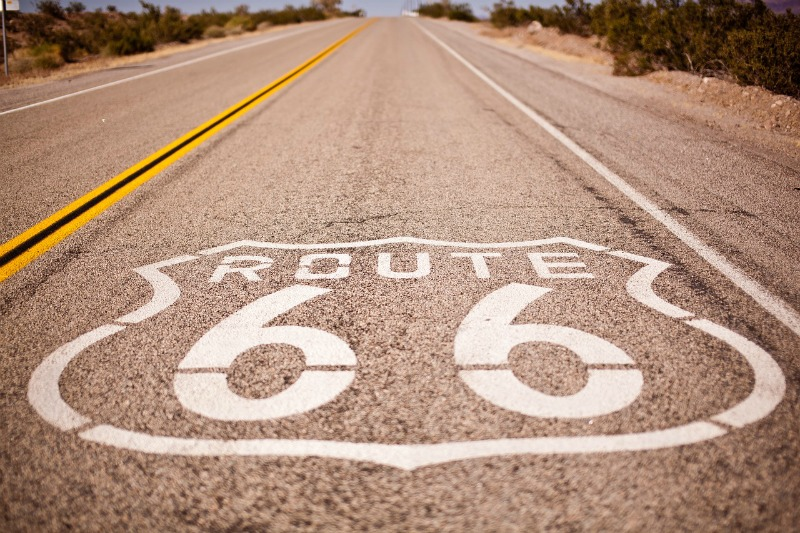 Route 66 in the Midwest and out to California