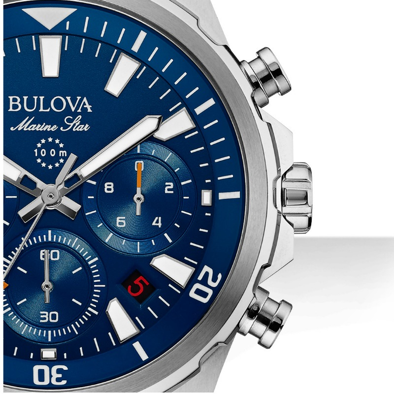 Bulova Marine Star Chronograph Two Tone Watch