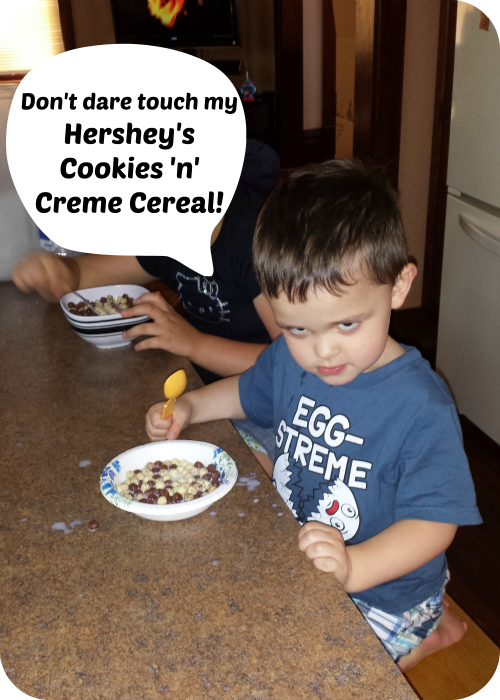 Don't dare touch my Hershey's Cookies 'n' Creme Cereal