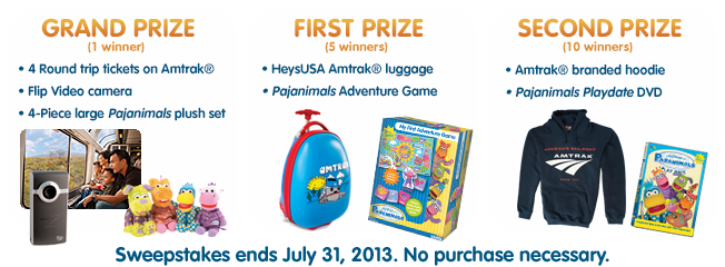 Pajanimals' Pack Your Pajamas Sweepstakes