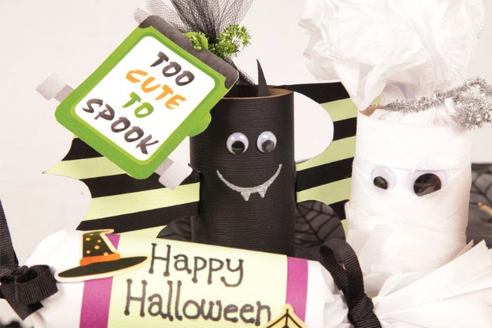 Trick-or-Treat Packs are an inexpensive and fun craft for kids to make and give this Halloween.