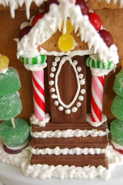 gingerbread front door
