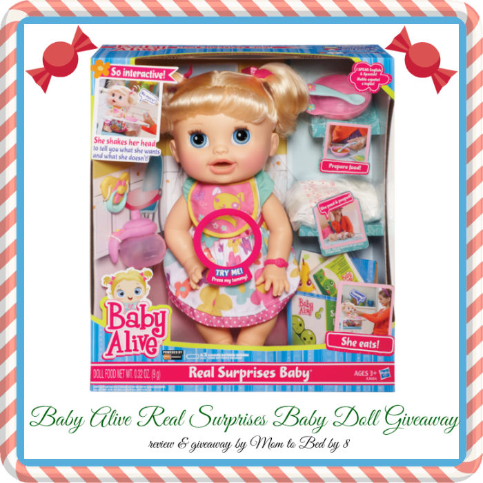 Baby Alive Real Surprises Giveaway