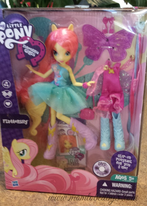 my little pony equestria girls doll fluttershy review