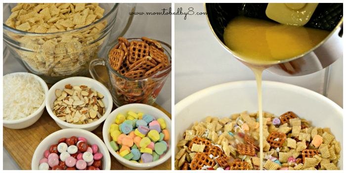 Coconut Almond Chewy Chex Mix process