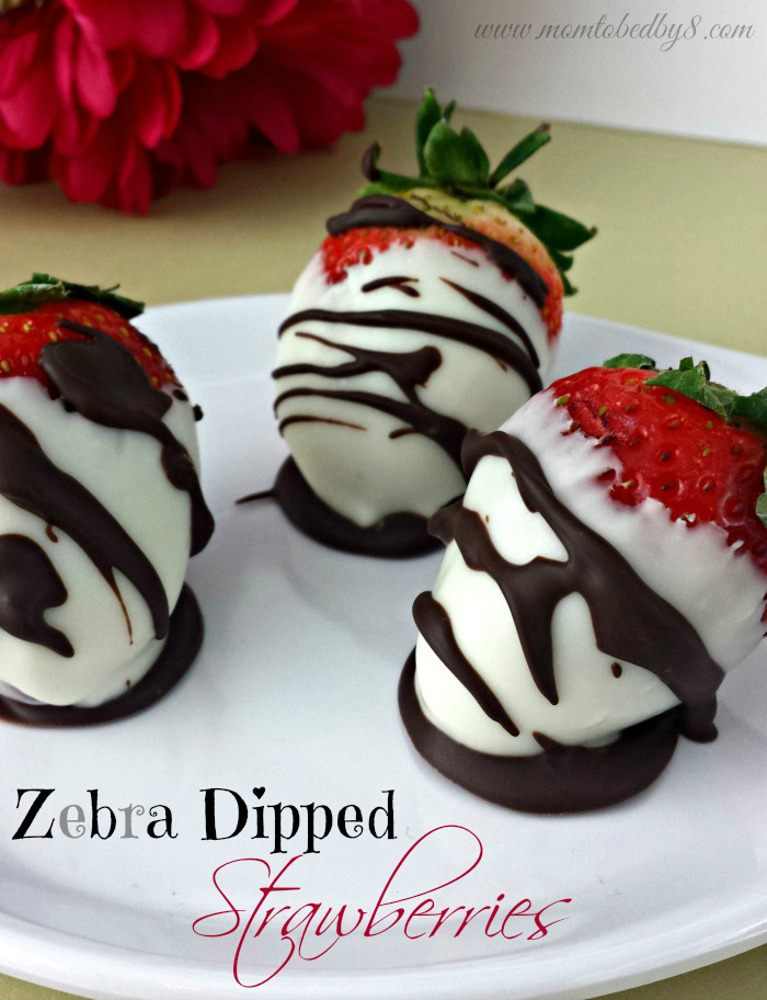 Zebra Dipped Strawberries