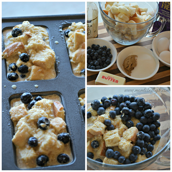Blueberry Baked French Toast Process