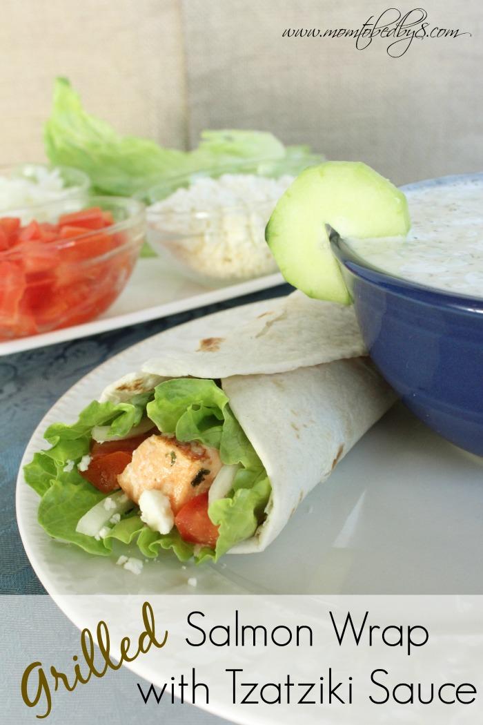 Salmon Wrap with Tzatziki Sauce