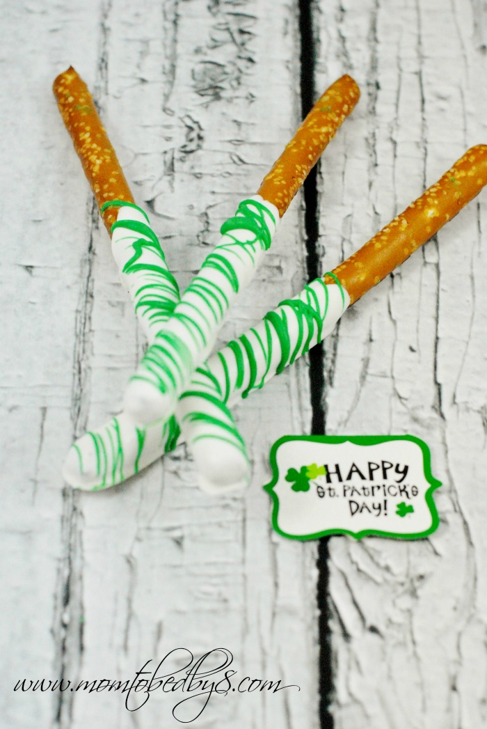 St. Patrick's Day Candy Coated Pretzel Rods
