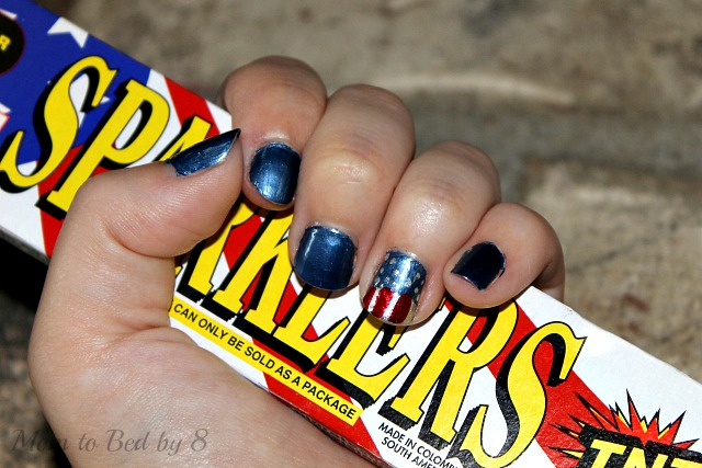 Americana Nail Art Finished