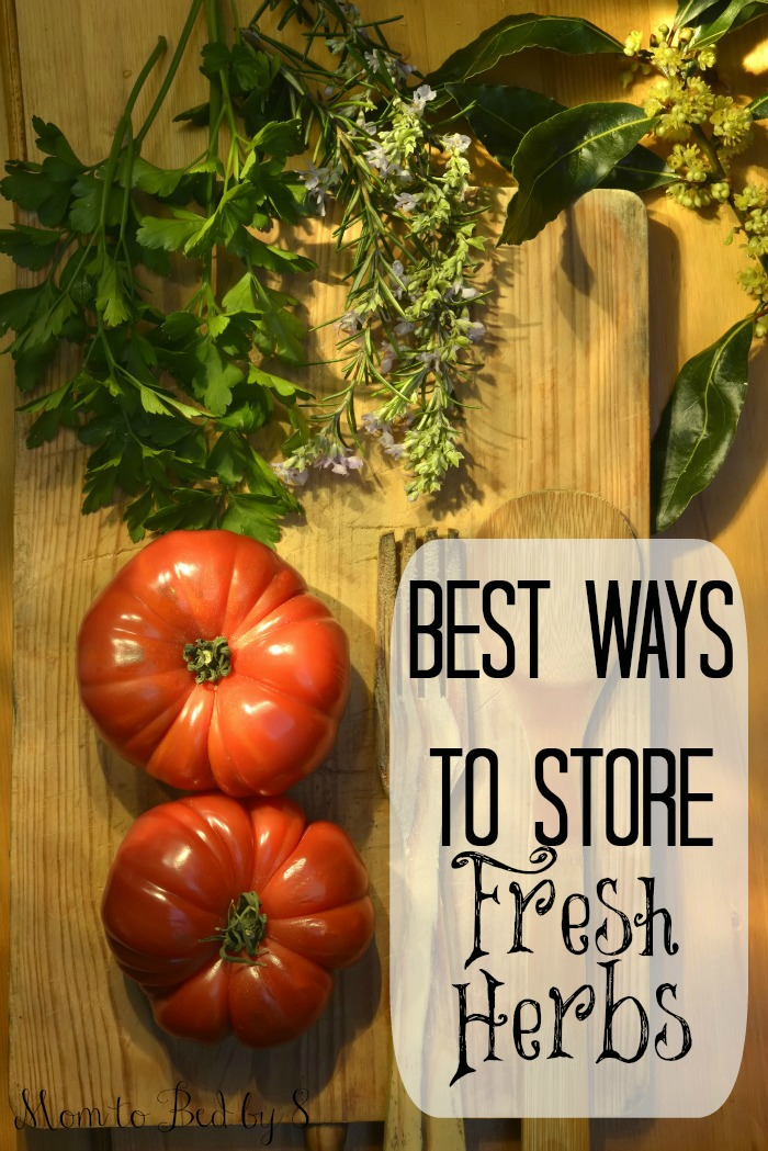 Best Ways To Store Fresh Herbs