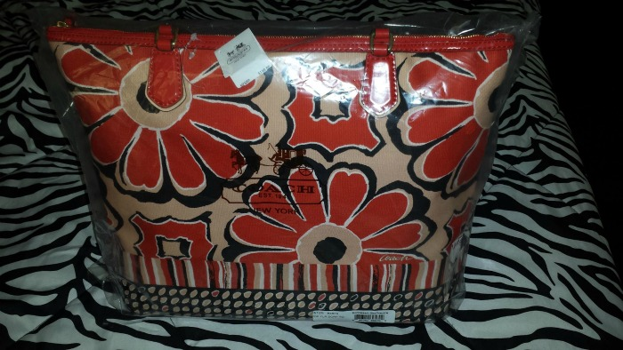 Coach Poppy Floral Scarf Print Tote