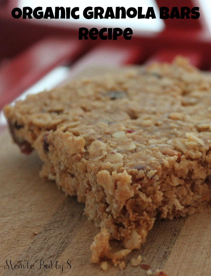 Organic Granola Bars Recipe