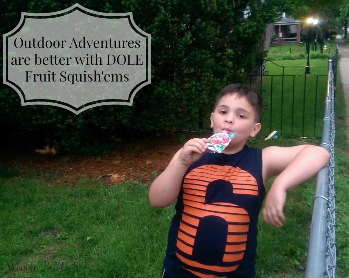 Outdoor Adventures Playdates are better with DOLE Fruit Squish'ems