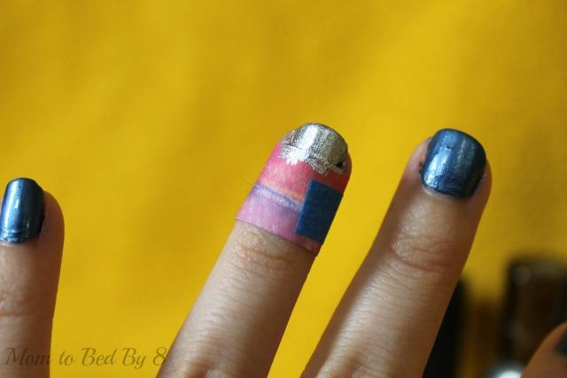 americana nails silver step