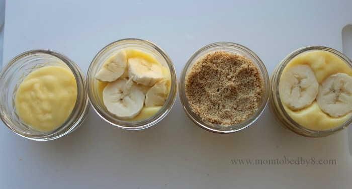Banana Pudding in a Jar Process