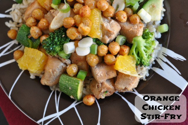 orange chicken stir fry