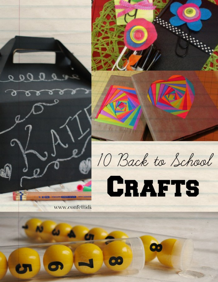 10 back to school crafts