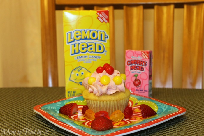 strawberry lemonhead cupcakes candies