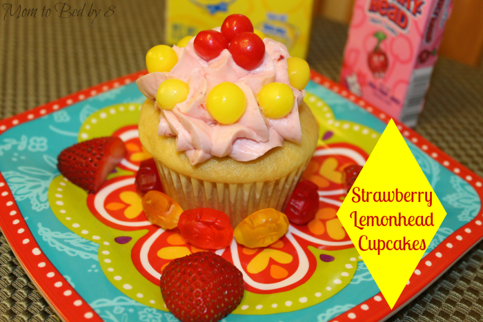 strawberry lemonhead cupcakes
