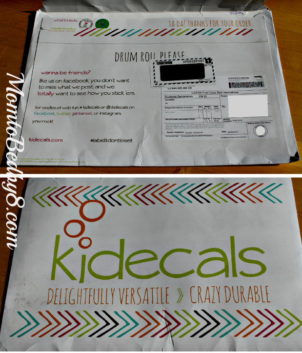 Kidecals Packaging