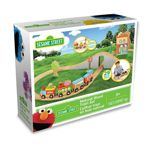 Sesame Street Wood 29-Piece Train Set
