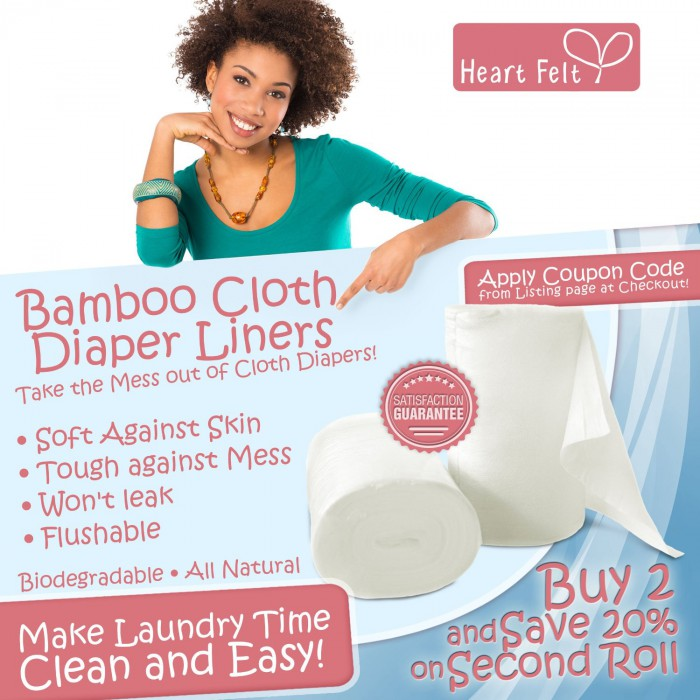 Bamboo Cloth Diaper Liners