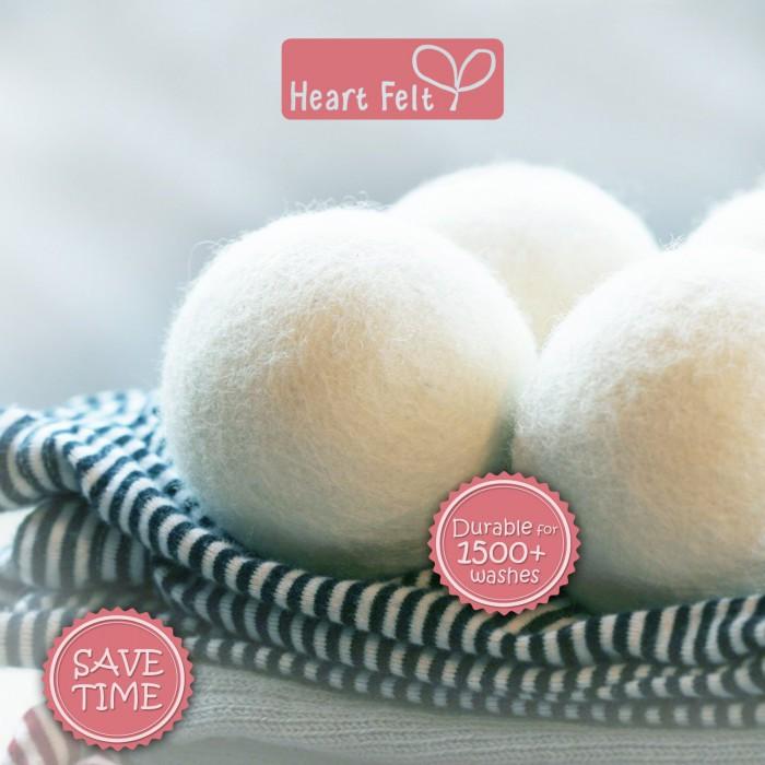 heart felt dryer balls